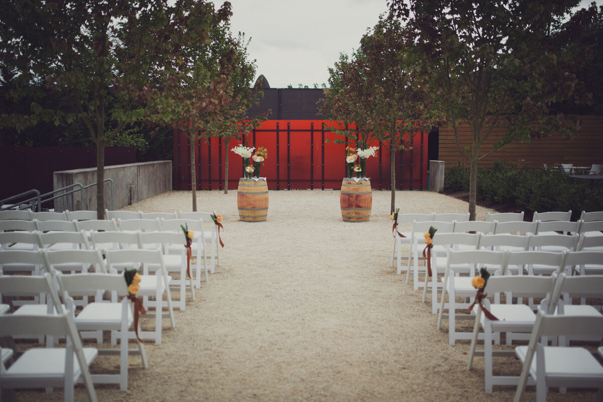 Outdoor Seattle area Wedding at Woodinville Winery Wedding Venue